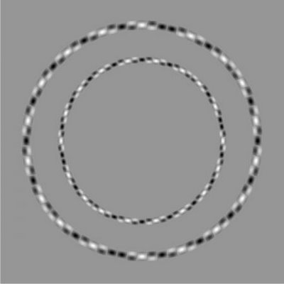 Illusion d'optique de cercles