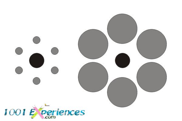 Illusion d'optique géométrique de cercles