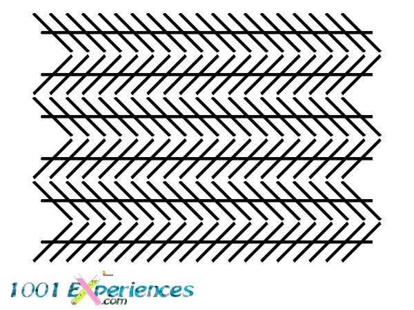 Illusion d'optique géométrique de droites horizontales