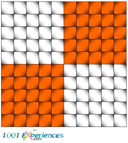 Illusion d'optique géométrique de lignes horizontales et verticales