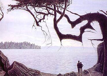 Illusion d'optique artistique du paysage bébé