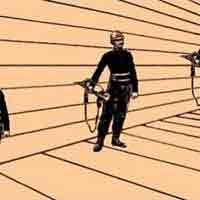 Illusion d'optique artistique - Quel soldat est le plus grand?