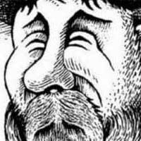 Illusion d'optique artistique - homme barbu