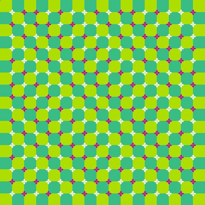 Illusion optique d'ondulations d'un damier