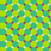 Illusion d'optique d'ondulations