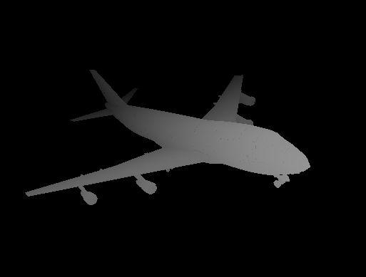 Image 3D d'un avion A747