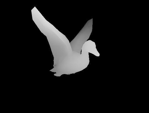 Image 3D d'un canard