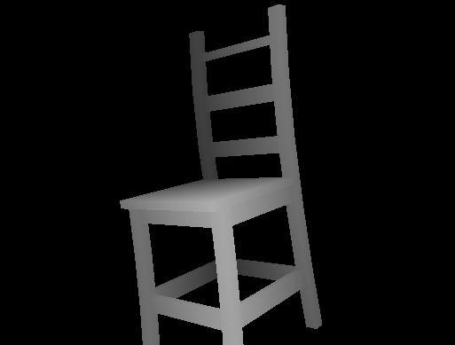image 3D d'une chaise