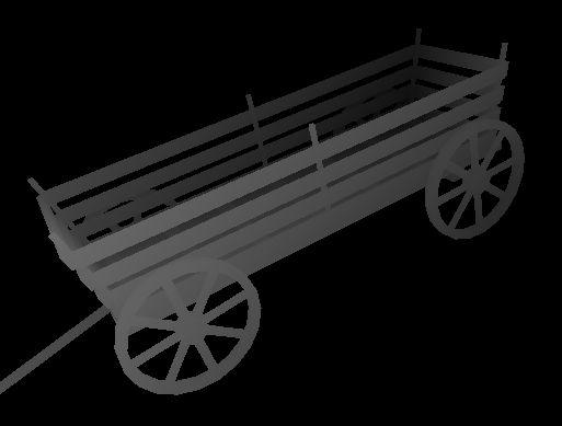 Image 3D d'une charrette