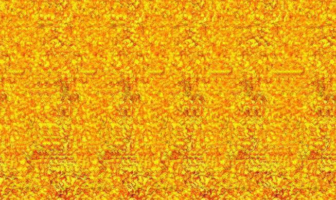 Stéréogramme 3d d'une citrouille halloween