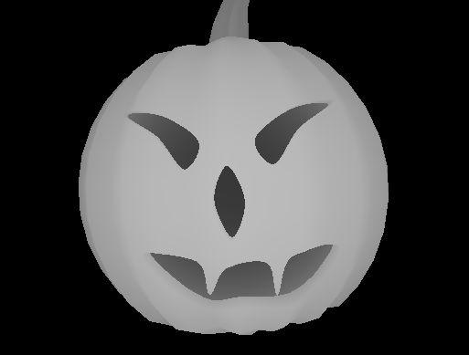 Image 3D d'une citrouille halloween