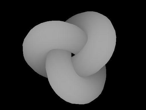 Image 3D d'un oeud Gordien