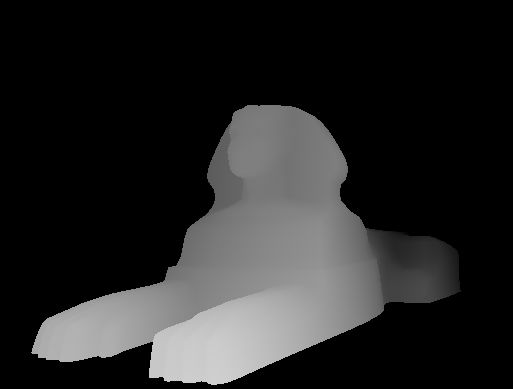 Image 3D du sphinx Egyptien