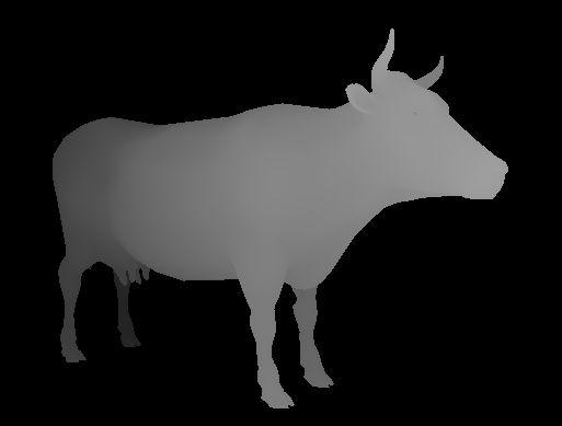 Image 3D d'une vache